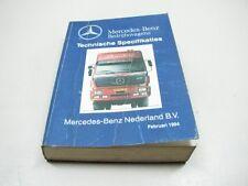 MERCEDES Specifikaties Bedrijfswagens Werkplaatshandboek Boek