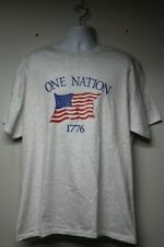 "Patriotic ""One Nation 1776"" American Flag Graphic T-Shirt Xl Hanes"