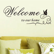 Welcome To Our Home Vinyl Wall Sticker Wall Art Decal Dining Room Decor