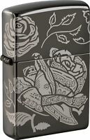 Zippo Currency Laser 360° Black Ice Design Windproof Pocket Lighter, 49156