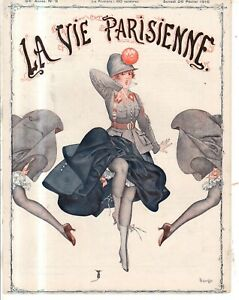 1916 La Vie Parisienne Original French Mouse cover only by Herouard - Art Deco