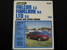 Gregory's EA Falcon NA Fairlane. Service And Repair Manual. 1988. Hard Cover.