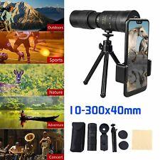 4K 10-300X40mm Super Telephoto Zoom Portable Monocular Telescope w/Tripod +Clip