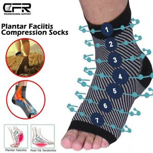 Foot Plantar Fasciitis Arch Support Compression Socks Ankle Heel Brace Copper HG