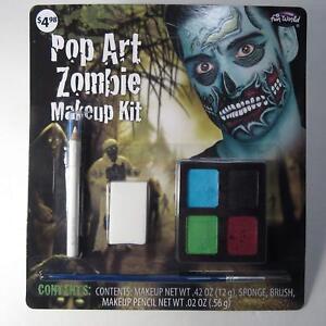 Fun World Pop Art Zombie Water Activated Makeup Kit