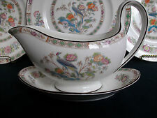 WEDGWOOD KUTANI CRANE (c.1971-1998)- GRAVY BOAT & UNDER PLATE- EXCELLENT! MINT!