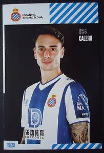 1554 Autogrammkarte Calero Espanyol de Barcelona 2019/20