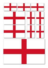 10 X ENGLAND FLAG VINYL CAR VAN IPAD LAPTOP STICKERS