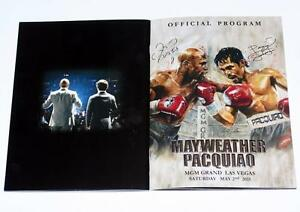 """MAYWEATHER PACQUIAO Fight May 2, 2015 MGM Grand Arena OFFICIAL PROGRAM 8"""" x 12"""""""