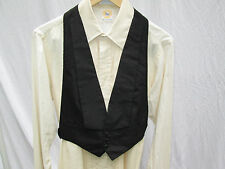 "Mens Black Small Vintage Formal Tuxedo Vest Waistcoat Fits Up to 32"" Waist"