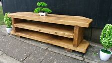 Corner Rustic Pine TV Unit solid wood stand/cabinet -rustic pine  finish 130 cm