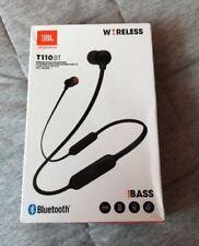 JBL T110BT Black Pure Bass Sound Bluetooth Wireless Headphones
