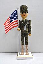 2017 Female Army Soldier American Flag U.S. Military Infantry Holiday Nutcracker