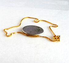 Mujer Niña Sin Piedra 24k baádo en oro amarillo 20cm Caja pequeña forma