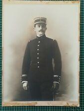 FF701 PHOTO ancienne sur carton Militaire 8ème régiment daté 1912 Calais RailPon