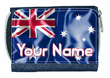 AUSTRALIAN FLAG PERSONALISED DENIM PURSE - LADIES / GIRLS NAMED GIFT / PRESENT