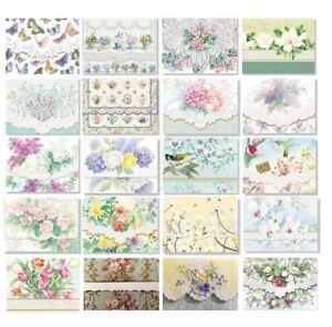 For Arts Sake E1 Carol Wilson Stationery Rose Garden Note Card Portfolios NCP