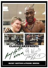 210.  RICKY HATTON AND FRANK BRUNO  BOXING SIGNED  A4 PHOTOGRAPH REPRINT#