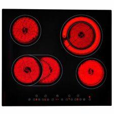 vidaXL Placa Inducción Placa Cocción Vitrocerámica Vidrio EUROKERA 6000-7200 W