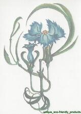 BLUE FLOWERS  #5285 temporary Tattoo
