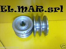Puleggia foro 14 diametro 58 2 gole sezione A motore elettrico monofase trifase