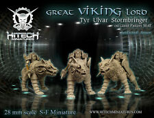 HITECH MINIATURES - 28SF008 Viking Lord Tyr Ulvar Stormbringer on Panzer Wolf