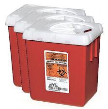 (Set of 3) 150+ syringe capacity large volume Sharps Container Needle biohazard