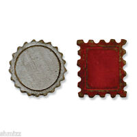 Tim Holtz Sizzix Movers & Shapers Magnetic Die Set 2PK Mini Bottle Cap & Stamp