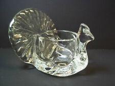 Avon peacock clear glass votive holder