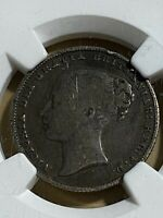 1867 Great Britain 1 Shilling Graded F15 by NGC!!
