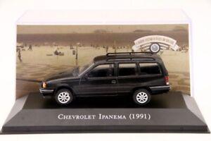 1:43 IXO Chevrolet Ipanema 1991 Cars Diecast Models Collection Black