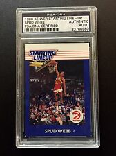 1988 KENNER STARTING LINE UP SPUD WEBB ROOKIE FIGURE AUTO SIGNED PSA DNA AU SLU