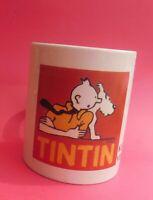 MUG Tintin. Kuifje in Voorburg. Céramique blanche. Hauteur 9,5 cm. Parfait état