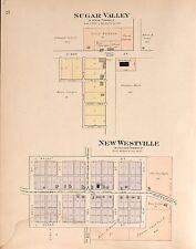 Preble County Ohio 1912 Atlas plat maps old Genealogy history Dvd P141