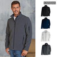 Kariban Men's Softshell Jacket (K401) - Adult Zippered Casual Winter Fleece