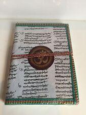Reciclado Grande Diario Om ' Aum ' Vegetal Tinte Cuaderno Diario Buda Sánscrito