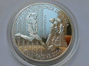 Cameroon 1000 francs 2004 Football FIFA World Cup 2006  Silver  proof  №2
