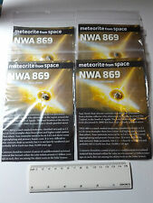1 Genuine Common Chondrite Meteorite NWA869 Mounted On Card