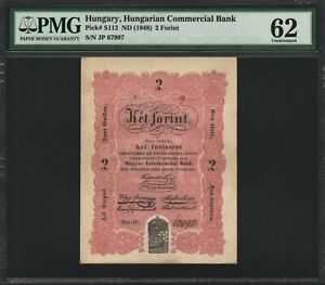 Hungary 2 Forint 1848 - PMG 62 Uncirculated