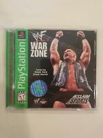 WWF War Zone (Sony PlayStation 1, 1998) GHE WWE PS1 PSOne  Complete CIB FREE S/H