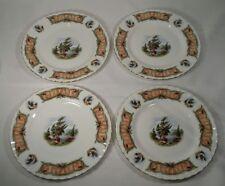"""4 Royal Albert KNOTTY PINE Luncheon Plate 8 1/8"""" English Bone China"""