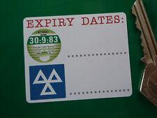 "ROAD TAX & MOT Expiry Dates REMINDER STICKERS 2.5"" Pair Service Car Garage Bike"