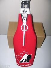 CHA Team Canada Olympic Hockey Zip up Jersey Bottle Holder Cooler Koozie NEW