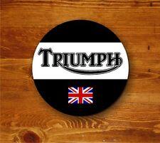 Triumph Motorcycle logo and Union Jack - round coaster