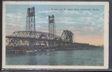 Postcard JACKSONVILLE Florida/FL  St John's River Draw Bridge 1910's