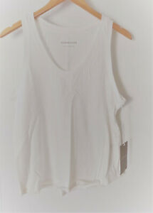 NWT Everlane Off-White The ReCotton Racerback Tank Size Medium New with Tags