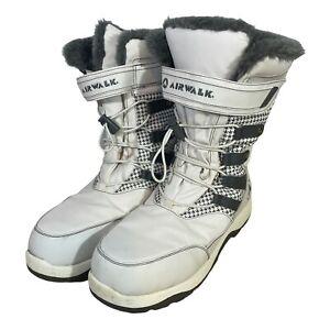 Airwalk Snowboard Boots White Gray Size 10 Soft Inside
