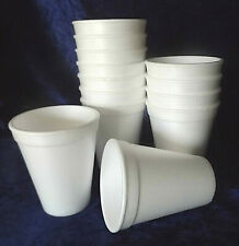 50 HEKU Mulled Wine Goblet Thermo Mug Styrofoam Cup White 0,2l With Fill Line