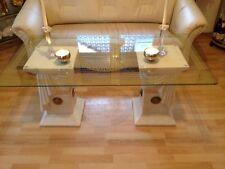 Couchtisch Glastisch Säulen griechische Tische medusa Barock Stuckgips 10/39 108