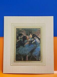 """Atelier America Brush Strokes Fine Art Gift Card """"DANCERS IN BLUE"""" Edgar Degas"""